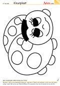 Kleurplaat lieveheersbeestje