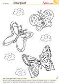 Kleurplaat vlinders
