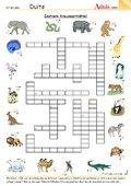 Zootiere Kreuzworträtsel