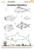 Kleurplaat - onderwaterwereld