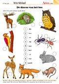 De dieren van het bos