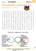 Woordzoeker zomersporten - Olympische Spelen