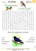 Woordzoeker weidevogels