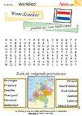 Woordzoeker provincies van Nederland
