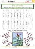 Woordzoeker moerasplanten en planten van rietvelde