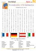 Woordzoeker EU-lidstaaten (stand 01.01.2011)