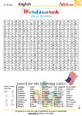 The 50 US states wordsearch - Can you find them?