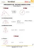 Formule verzameling vlakke figuren