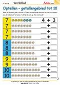 Optellen - getallengebied tot 10