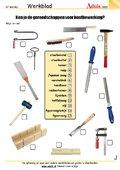 Ken je de gereedschappen voor houtbewerking?