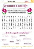 Woordzoeker - woonplaatsen provincie Overijssel