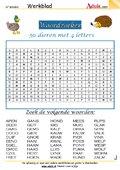50 dieren met 4 letters
