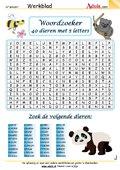Woordzoeker 40 dieren met 5 letters